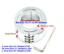 Metal Ball Stretcher Weight Man Enhancer Chastity Ring Chrome Finish 40/45/50MM