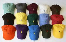 NWT Mens Polo Ralph Lauren Pony Logo Sports Baseball Cap Hat One Size Many Color