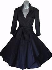 VINTAGE anni'50 STILE ROCKABILLY PINUP SWING AVVOLGENTE Vestito Da Festa Sera Taglie 4 - 26
