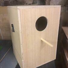 "cockatiel kakariki nest box 12"" x 8"" x 8"" inch nesting breeding box"