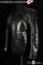 'GAUNTLET' Men's Black GOTHIC Style Real Soft Lambskin Leather Jacket