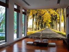 Huge 3D Trees Main Road Wall Paper Wall Print Decal Wall Deco Indoor Murals Wall