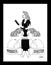 BETTE DAVIS 1946-rpt A Stolen Life Hollywood ALEX GARD Actress Caricature MATTED