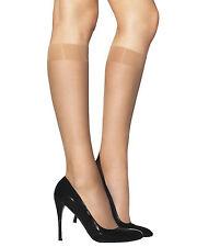 LAURA Semi-Opaque Knee High Pop Socks Extra Elastane Glossy 40 Denier-2 Pairs