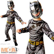 BATMAN ARMOUR BOYS COSTUME l'alba di giustizia Supereroe KIDS BAMBINO LIBRO Costume