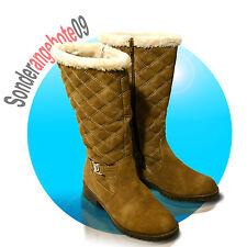 Damenstiefel Warmfutter Stiefel 36 37 38 39 40 41 braun SCANDI Stiefeletten Warm
