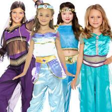 Arabian Princess Girls Fancy Dress Fairytale Book Character Jasmine Costume 3-10