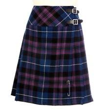 "New Ladies Pride of Scotland 20"" Knee Length Kilt Range of Tartans Size 6-28"