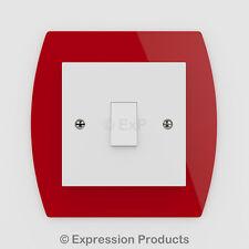 Singola/doppia luce interruttore/presa Surround Dito Indietro Piastra Pannello 004