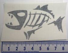 Skeleton Fish Decal 8 x 5 in - Vinyl