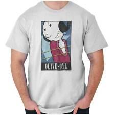 Vintage Olive Oyl Cartoon Popeye Licensed Short Sleeve T-Shirt Tees Tshirts