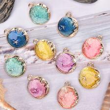 10Pcs/Set Enamel Moon Star Charms Pendant  Jewelry Findings DIY Craft Making US