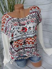 Sheego Shirt Damen T-shirt Gr 695 40//42 bis 56//58 rot weiß gestreift