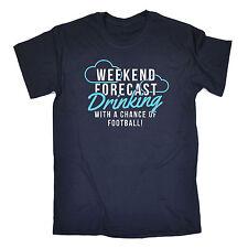 Fin de semana beber fútbol T-Shirt Tee ball fútbol Cerveza Gracioso-Regalo Padres Día