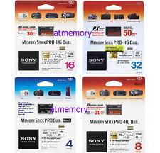 SONY 4GB 8GB 16GB 32GB Memory Stick  Pro Duo Pro-HG HX psp 50MB/s retail
