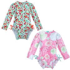Baby Mädchen Badeanzug Blumenmuster Bademode UV-Schutz Einteiler Schwimmanzug