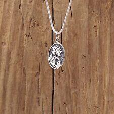 Sterling Silver Buddha Hand Lotus Blossom Flower Charm Necklace Gyam Mudra Yoga