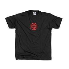 West Coast Choppers T-shirt original croix de fer en noir avec croix maltaise rouge
