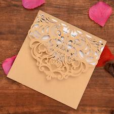 10/50 Diamond Laser Cut Invitation Cards For Wedding Anniversary Birthday Party
