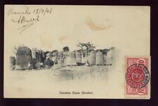 SUDAN FRENCH COLONIES 1908 PPC Huts GRENIERS SAMO...SENEGAL