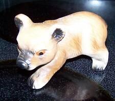 GOT China Figurine Baby Bear Brown Chinese Vintage Animal Ceramic Porcelain