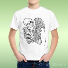 camiseta Niño niño Calavera Esqueleto Besos Chica Idea De Regalo