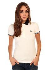 Fred Perry Women Polka Dot Collar Polo Shirt Sizes: UK12