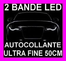 2 STRISCIA LED SMD FARI GIORNO DIURNO LUCE BIANCA AUDI 80 A2 A3 A4 A5 A5 TT TDI