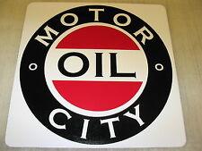 MOTOR CITY OIL Metal Sign vintage style Pump oil GAS station Metal FUEL Detroit