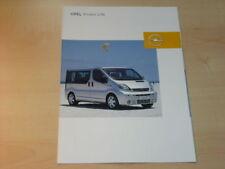 15353) Opel vivaro Life prospectus 2003