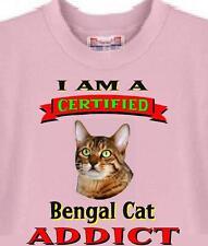 Dog T Shirt - Certified Bengal Cat Addict - Adopt Dog Animal Men Women # 69