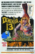 Dementia 13 vintage horror movie poster