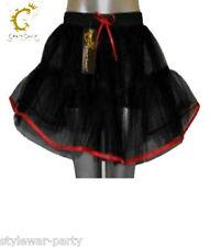 Crazy Chick 4 Layers Black Red Vampire TuTu Skirt Halloween Devil TuTu Skirt New