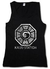Vintage Kaiju estación señora Tank Top Pacific Mech monstruo rim Godzilla Monster