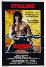 Rambo primera sangre parte 2 Movie Poster Película A4 A3 Art Print Cine