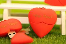 VALENTINE Regalo Bellissimo Rosso Penna/Heart Flash Drive Memory Stick Memoria USB 2.0