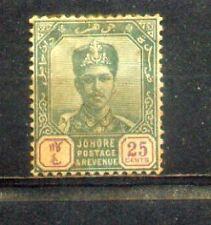 1896 Malaya Johore 25c  MH.  CV Rm 40