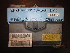 92 93 CHEVY LUMINA 3.1L ECU/ECM #16172693 BDSX/16189541 *see item description*
