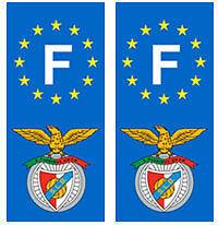 stickers autocollants plaques immatriculation auto Département Benfica Lisbonne