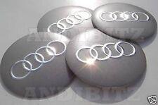 Rueda de aleación Audi A2 A4 A6 RS4 RS6 A5 A8 TT Q7 Centre Cap badges 60mm 6cm Flat