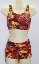 Shorts & Crop Top Set Geometric Print Lycra KIDS 4,6,8,10,12,14