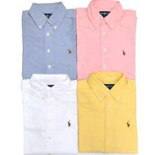 Ralph Lauren Boys Classic Fit Oxford Long Sleeve Buttondown Shirt Uniform Top Rl