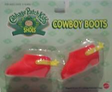 Cabbage Patch Kids Zapatos-Cpk Rojo Botas Vaqueras-Nuevo