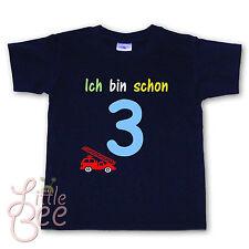 Geburtstagsshirt - Ich bin schon 3 - Wahl: MOTIV, WUNSCHNAME, Größe, Farbe  NEU