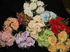 6 rose roselline fiorellini artificiali bomboniere confetti decorazioni FIORI