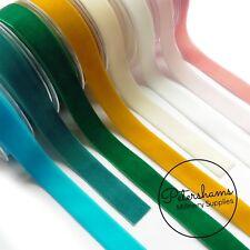 22mm Berisfords Velvet Ribbon for Millinery, Hat Trimming & Crafts - Per Metre