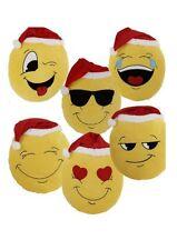 Kissen Emoji xmas Weihnachtskissen 50 cm Emoticon Emojicon Lach Smiley mit Mütze
