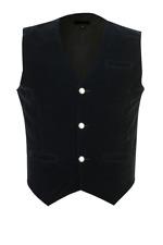 Men's Black Velvet  Vest /Waistcoat Gothic Steampunk/Wedding Vest/Prom Vest