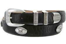 "Golf Tour - Italian Calfskin Genuine Leather Designer Dress Belt, 1-1/8"" Wide"