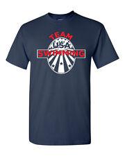 Swimming Team USA United States America Rio Men's Tee Shirt 1473